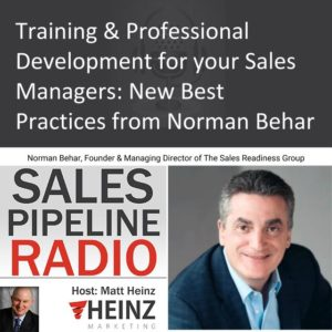 Norman Behar @NormanBehar Sales Readiness Group