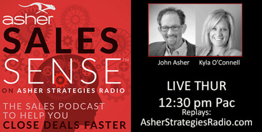 ASHER SALESSENSE - ASHER STRATEGIES. Close deals faster.