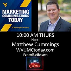 WVUMCToday host Matthew Cummings