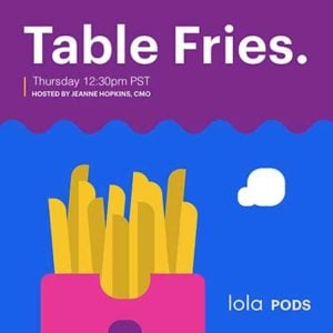 Table Fries by Lola because #sharingiscaring