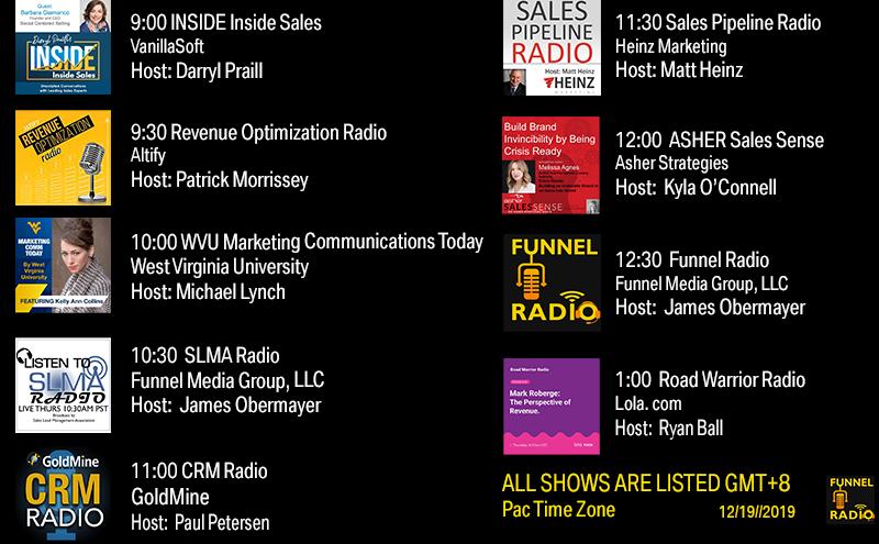 Funnel Radio lineup 12/19/2019
