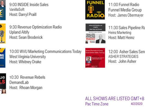Funnel Radio Lineup April 2