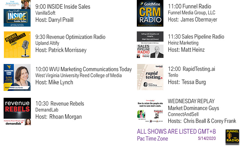 Funnel Radio Lineup May 14, 2020