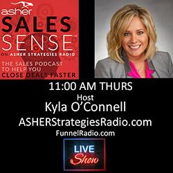 Kyla O'Connell, Cohost Asher Sales Sense
