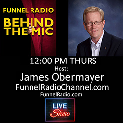 James Obermayer Behind the Mic on Funnel Radio Channel