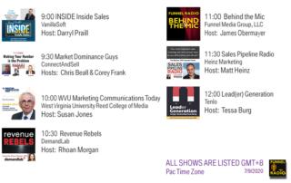VanillaSoft, ConnectAndSell, DemandLab, Heinz Marketing, Tenlo, West Virginia University